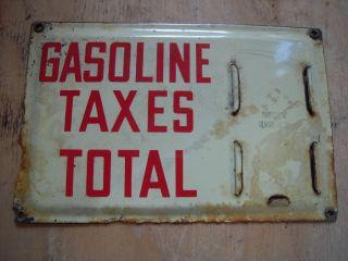 Gilmore Oil Porcelain Price Sign Gas Station Visible Pump