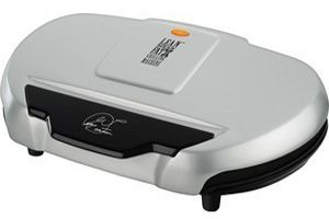 George Foreman Family Size Indoor Electric Grill, GR144 Large Platinum