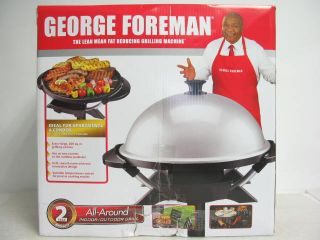 New George Foreman All Around Indoor Grill GGR200RDDS