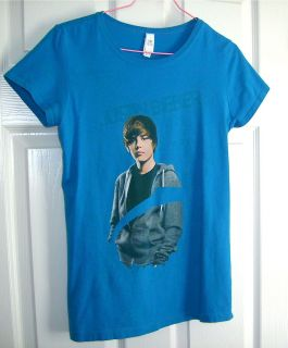 GIRL (XL) BLUE JUSTIN BIEBER KNIT SCHOOL SHIRT/Clothing T Shirt Top (#