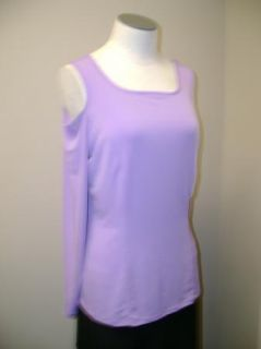 George Simonton Open Shoulder Knit Top Lavender