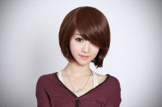 Style Womens Girls Sexy Short Fashion Straight Hair Wig Color Light