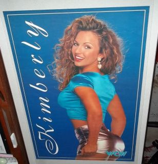 Vintage WCW Wrestling Poster Kimberly Page Nitro Girls Sexy RARE WWF