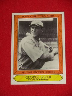 1985 George Sisler opps Collecors Series Card 33