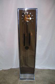 George Nelson Howard Miller Lucite Chrome Pendulum Clock Mid Century