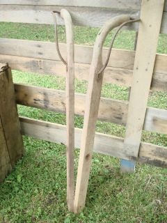 Pair Walking Plow / Old Push Garden Cultivator Handles ~ Permaculture