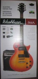 George Washburn Limited Edition Electric Guitar Pak GWLPCSBPAK UPC