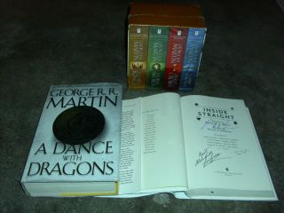 GEORGE R R MARTIN AUTOGRAPHED SUPER LOT SCIENCE FICTION FANTASY