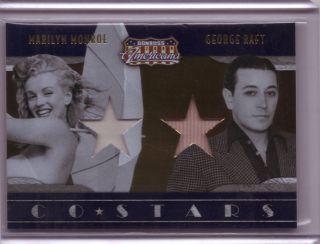 Americana Marilyn Monroe George Raft WORN dual costume relic swatch