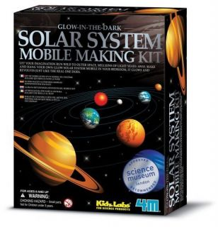 Solar System Mobile Making Kit Glow in The Dark Planets Science