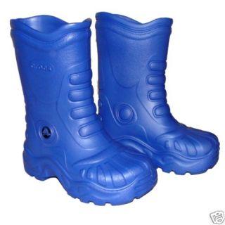 Crocs Georgie Rain Snow Boots Blue Boy Men M 4 w 6 New