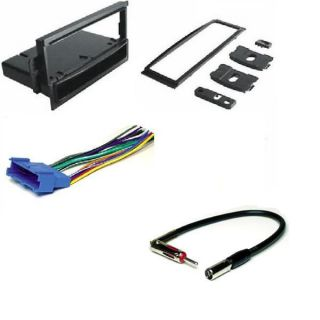 GM Single DIN Radio Installation Dash Kit Harness Antenna GM1583B