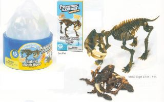 Icebergs Saber Tooth Tiger Skeleton   Geoworld Fossil Dinosaur model