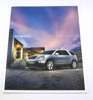 Original 2010 GMC Acadia Crossover SUV Brochure. Covers the SL, SLE