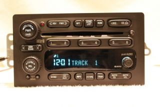 GM GMC CHEVY TAHOE SUBURBAN H2 6 DISC CHANGER SILVERADO CD RADIO