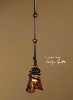 Mini Pendant Light Metal Glass Shade Bright Hanging Lighting Lamp