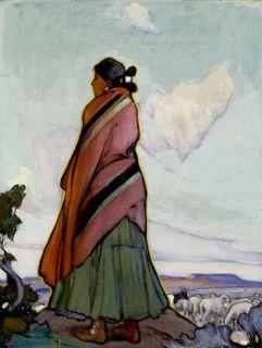 Ira Cassidy Navajo Shepherdess Native American Canvas
