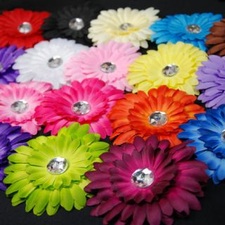 Lots Baby Girl Daisy Gerbera Flower Hair Bow Headband