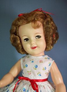 19 Vinyl Shirley Temple Doll by Ideal Flirty Eyes