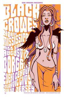 The Black Crowes Atlantic City Silkscreen Gig Poster