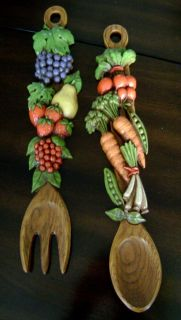 Retro Fork and Spoon Wall Decor Mid Century Fabulous