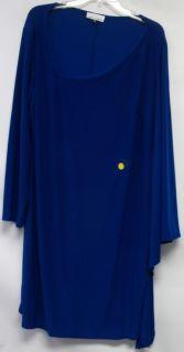 Sublime Jay Godfrey Jersey Knit Bianca Dress Royal Blue 1x New 2nd