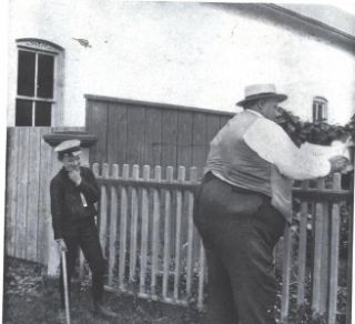 EE Photo Image Little Boy with Goderich Canada Largest Fat Man