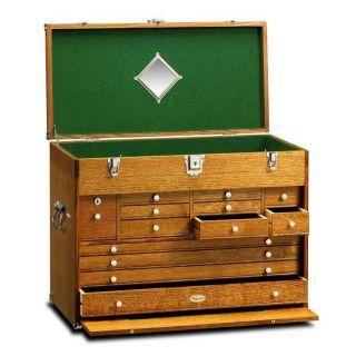 Gerstner Wood Tool Chests Ultimate Treasure Chest Golden Oak