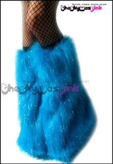 Fluffies Fluffy Furry GoGo Boots Leg Warmers Rave Pants