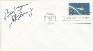 John H Glenn Jr First Day Cover Signed
