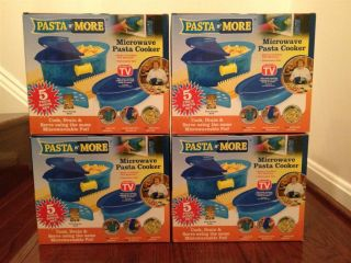 NEW AS SEEN ON TV  PASTA N MORE 5 PIECE MICROWAVE PASTA COOKER COOK