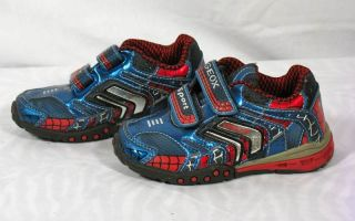 GEOX SPORT respira little boys blue red velcro sneakers casual shoes 5