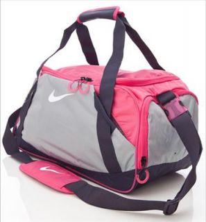 Nike Varsity Girl Duffle Gym Bag Gray Pink Fast SHIP