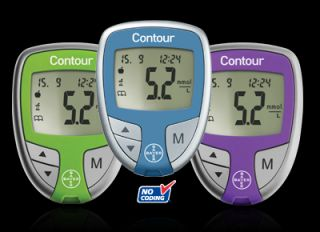 New Bayer Contour Blood Glucose Diabetes Meter Kit Pacific Blue
