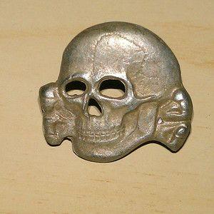 German Deadhead Pin Badge WW2