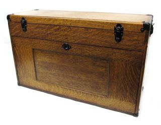 Gerstner Sons Oak Wooden Machinists Tool Chest Box