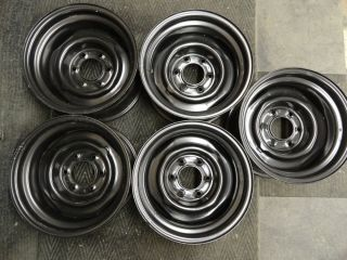15 x 8 CHEVY GMC Truck Black Rally Wheels Rims 6 LUG C10 CK Silverado