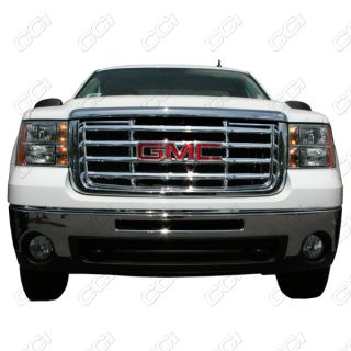 2007 2010 GMC SIERRA 2500 1PC CHROME ABS GRILLE INSERTS OVERLAY