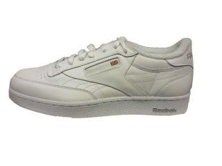 Reebok Mens Classic Club C 161596 White 2E Classic Reebok Shoe Club C
