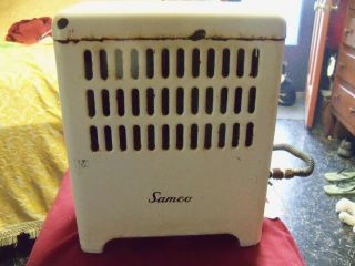White Samco Porcelain Gas & Propane Space Heater Batroom Heater Good