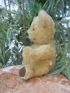 Vintage 15 Chad Valley Chiltern Traditional Golden Teddy Bear Made in
