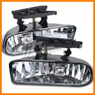 Fog Lights Lamps Pair LH RH Set 99 02 GMC Sierra 00 06 Yukon XL