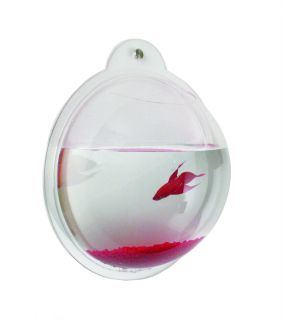 Wall Mount Fish Bowl Aquarium Acrylic Tank for Beta or Goldfish