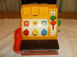 Vintage Collectible 1974 926 Fisher Price Cash Register Toy