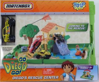 Matchbox Go Diego Go Diegos Rescue Center Pop Up Adventure Set NIP