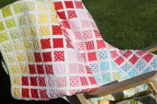 Pattern Vintage Trip Quilt Jelly Roll 5 Charm Squares