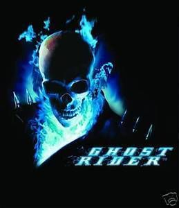 Ghost Rider Blue Flame T Shirt Medium
