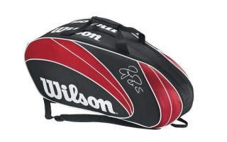 Wilson Federer 6 Pack Tennis Racquet Racket Bag Authorized Dealer New
