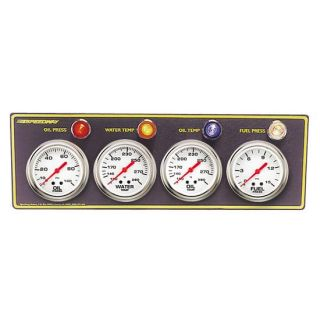 New Speedway 4 Gauge Panel Oil Fuel Water Temp Pressure