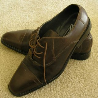 Giorgio Brutini Private Collection Brown Cap Toe Oxford Dress Shoe 12